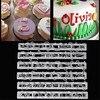6 шт. русские буквы кухня большой помадка пластик Алфавит буквы номер плесень украшения торта инструменты набор выпечки печенья резак
