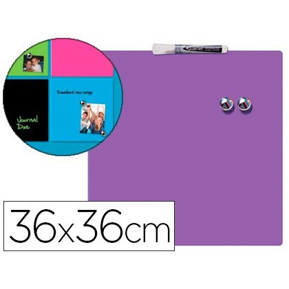SLATE REXEL HOME MAGNETICA THERAPY 360X360 MM COLOR PURPLE INCLUDE MARKER AND 2 MAGNETS