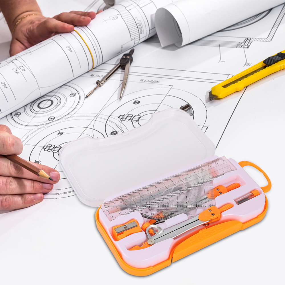 1 Sets Compasses Set Geometry Drawing Tool Kit Drawing Stationery for Students