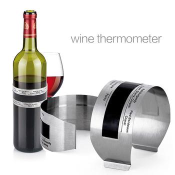 1PC butelka wina termometr LCD czerwone wino termometr 4-24 stopni celsjusza termometry cyfrowe czujnik wina ze stali nierdzewnej tanie i dobre opinie CN (pochodzenie) Ekologiczne Zaopatrzony Digital Thermometers Wine Sensor Ce ue + -1 Centigrade 4-24 Centigrade Stainless Steel