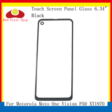 10Pcs/lot Touch Screen For Motorola Moto One Vision P50 XT1970 Touch Panel Front Outer LCD Glass Lens One Vision Touchscreen vision r20 touch