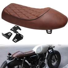 Motocicleta universal cafe racer assento personalizado do vintage corcunda sela pan plana assento retro para honda cb125s cb200 cb350 cl350 cb400