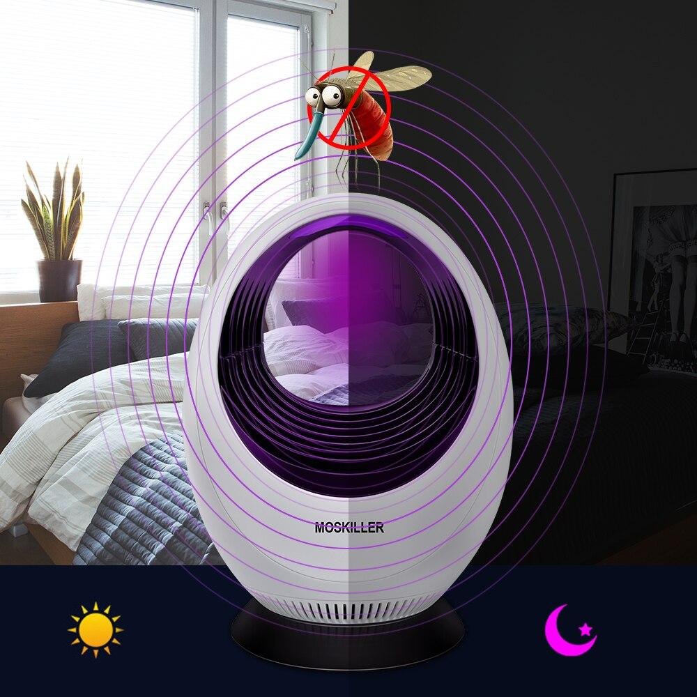 New Design Photocatalyst Mosquito Killer Lamp LED Trap USB Electronical Bug Zapper 220V E27 Bulb