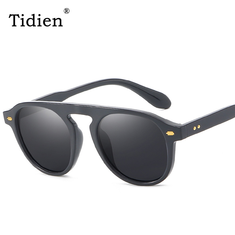 Polarized Round Sunglasses Vintage Men Fashion Driving Retro Brand Designer Sun Glasses 2019 for High Quality Tidien 92106