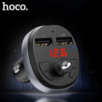 HOCO double USB chargeur de voiture LED affichage FM émetteur modulateur Bluetooth mains libres Kit de voiture Audio MP3 lecteur de musique pour iphone 11