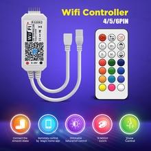 RGB RGBW RGBWW Wifi LED Controller strip light Wireless IR Remote 12V Music Mini Controller for LED Strip Light все цены