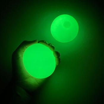 Stick Wall Ball Catch Throw Glow In The Dark Toys for Children Mini Luminous Stick Juggle Jump Wall Ball Games Sticky Squash