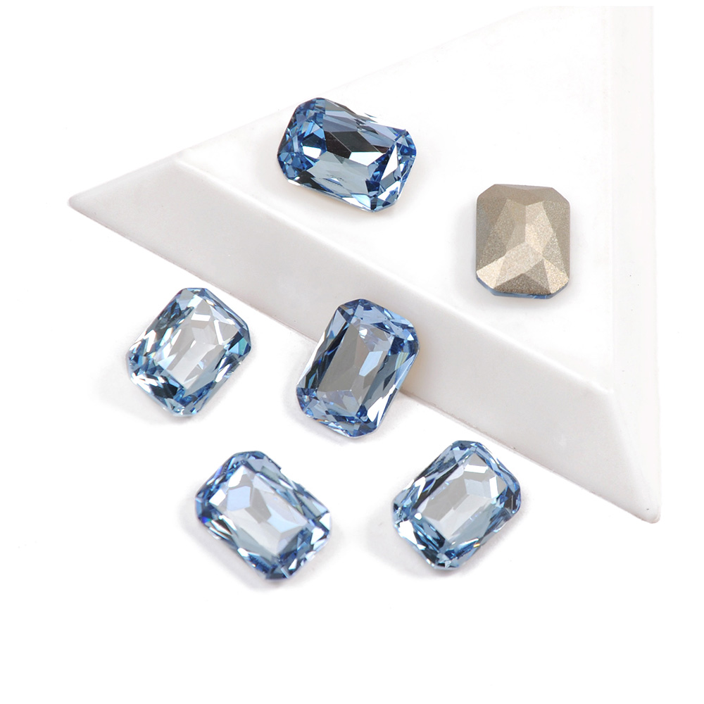 octogono forma tenente safira cor 12 unidades pacote 6 unidades pacote cristal de vidro strass para