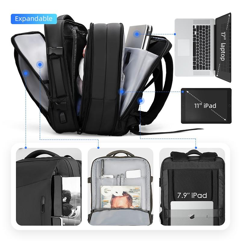 Mark Ryden 17 cal plecak na laptopa płaszcz przeciwdeszczowy mężczyzna torba USB ładowania przestrzeń wielowarstwowa podróży mężczyzna torba Anti  złodziej Mochila w Plecaki od Bagaże i torby na  Grupa 3