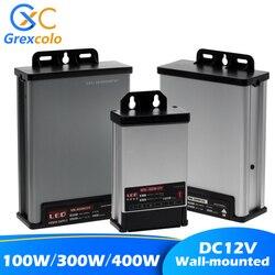 Настенный светодиодный источник питания, водонепроницаемые трансформаторы для освещения, переменный ток 220 В в постоянный ток 12 в 24 В, адапт...