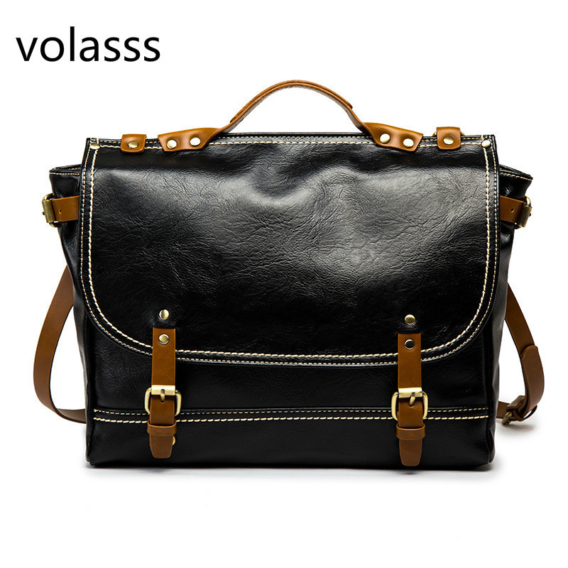 Mens Messenger Bag Briefcase Bags Fashion Crossbody Bags For Men Bag Leather Travel Shoulder Tote Back Handbag Large Casual 2020