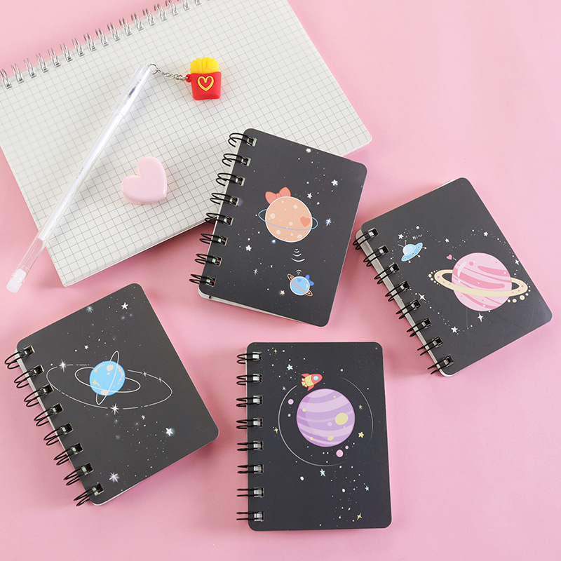 Kawaii Plannet Ring Binder Sketchbook Mini Spiral Notebook A7 Agenda 2020 Cute Diary Book Korean Stationery School Supplies