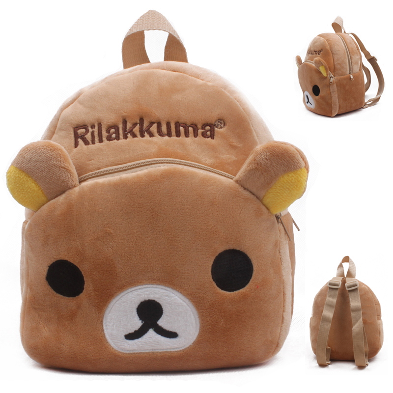 Cute Cartoon Kids Plush School Bag Kindergarten Children's Gifts Backpack Soft Toy Baby Kids Student Bags Lovely Rilakkuma