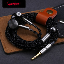 OPENHEART Wired Earphone Clear Detail Sound Metal headset with mmcx Flat Headphone HiFi Earbuds High Quality Durable Personality