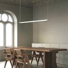 Modern Minimalist LED Pendant Lamp Hanging Linear Bar Light 90cm 120cm Office Lighting Tube Dining Room Lights