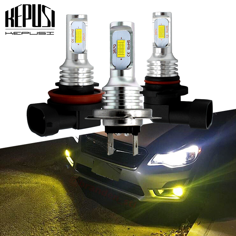 2x H7 LED Car Fog Light <font><b>Bulbs</b></font> 1600LM 6000K White <font><b>3000K</b></font> Golden Yellow H1 H3 H8 H9 H11 9006 <font><b>HB4</b></font> Led Auto Lamp Driving <font><b>Bulbs</b></font> 12V 24 image