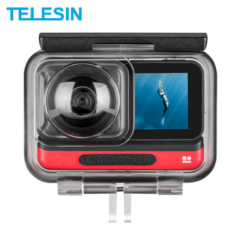 30 pcs set full protect waterproof sport camera housing case kit for xiaomi mijia 4k mini camera waterproof case sets TELESIN 45M Underwater Housing Case Waterproof Case Lens Cover Protector for Insta360 ONE R 4K 360 Edition Camera Accessories