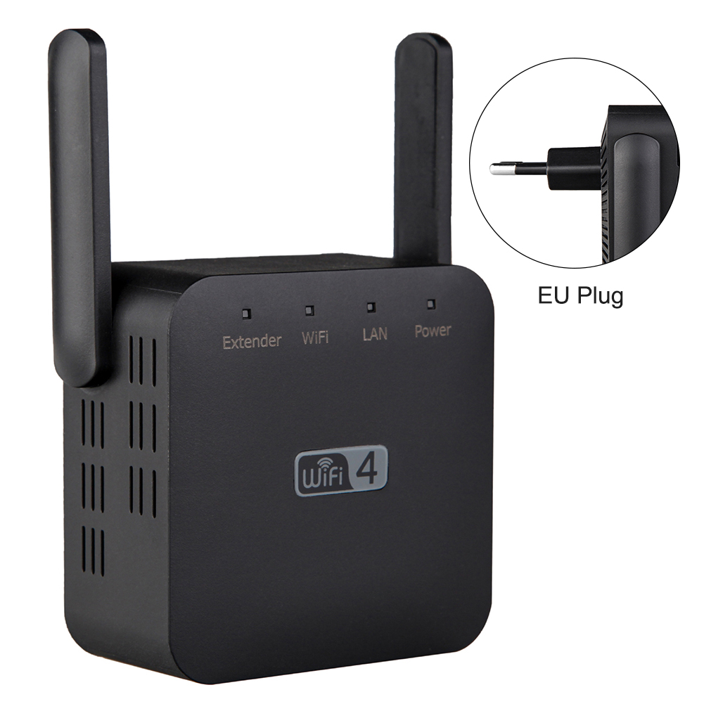 300Mbps Hotel Universal Signal Amplifier High Speed Home Office Range Extender Plug And Play Wireless Repeater 2.4G With Antenna