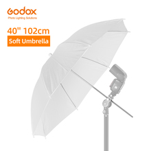 """Godox 40 """"102 centimetri Soft White Diffusore Fotografia In Studio Traslucido Ombrello per Studio Flash Strobe Lighting"""