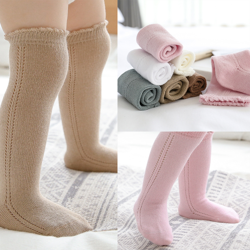 220.0¥ 42% OFF|New Baby Socks for Girls Boys Hollow Out Autumn Spring Newborn Socks Kids High Knee ...