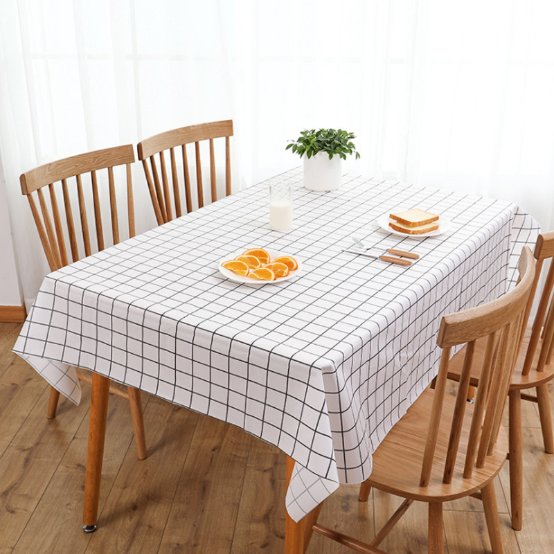 Plastic Tablecloth Print Color Pink  Wedding Birthday Party Table Cover Rectangle Desk Cloth Wipe Covers Waterproof Table Cloth