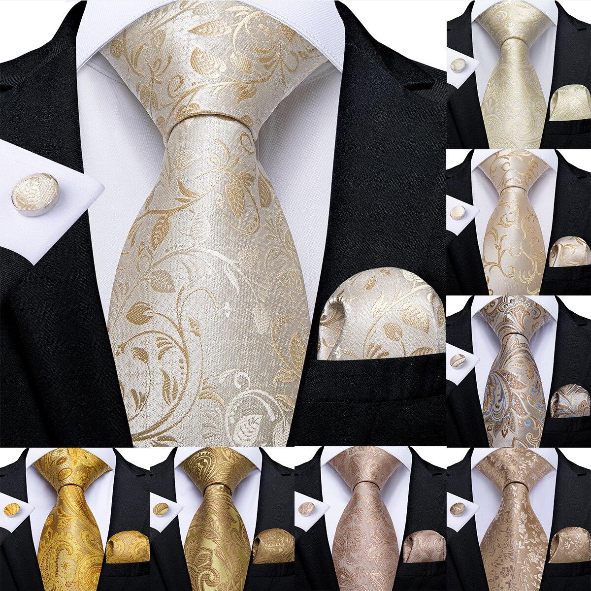 Men/'s Black And Silver Paisley Silk Woven Tie+Hanky /& Cuflinks Matching Set 140
