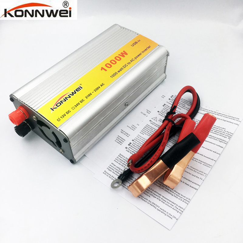 Professional Car Inverter Full 1000W DC <font><b>12</b></font> V to AC <font><b>220</b></font> V Power Inverter Charger Transformer Vehicle Power Inverter Power Switch image