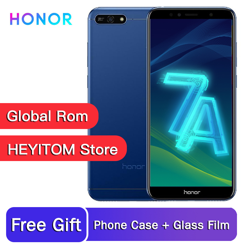 L'original Honor 7A joue 2GB 32GB Snapdragon 430 Octa core 5.7 pouces smartphone 720P 3000mAh 2SIM GPS bluetooth WIFI