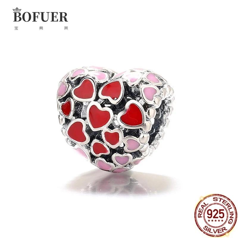 2021 New Sweet Love Family Heart Friendship Charm Pink Sister Bead Fit Original Pandora Charms Silver 925 Bracelet Women Jewelry Beads Aliexpress