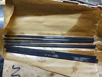 300*30*3mm m35 (m2co5) cobalto-contendo nitrificação faca lâmina de aço preto HRC66-69 nitrificação preto