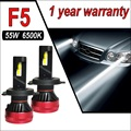 F5 110 Вт Автомобильные лампы H7 Светодиодные Фары H4 H11 Автомобильные противотуманные фары Светодиодная лампа высокой мощности 10000LM ходовые ог...