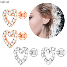 Leosoxs 2 шт новые изысканные модные серьги в форме сердца