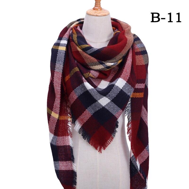 Женский зимний шарф в ретро стиле, кашемировые вязаные пашмины шали, женские мягкие треугольные шарфы, бандана, теплое одеяло, новинка - Цвет: bb11