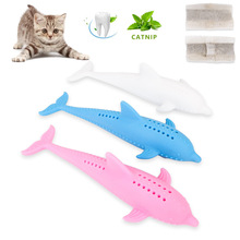 Kawaii Solid Color Fish Shape Cat Toothbrush Amusement Intelligent Cat Toys Interactive Scratch Chew Toys Pet Supplies Kitten solid color wood wear resistant durable chew toys for pet cat amusement intelligent cat toys interactive pet supplies kitten