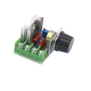 Regulador de voltaje SCR AC 220V 2000W atenuador controlador de velocidad del motor termostato módulo regulador de voltaje electrónico