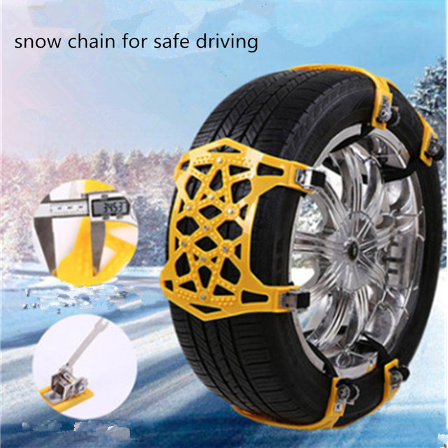 1/3/6Pcs High Quality TPU Snow Chains Universal 165-265mm Tyre Winter Roadway Safety Tire Chains Snow Climbing Mud Ice Anti Slip