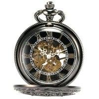 L123 Roman Digital Mechanical Pocket Watch Mechanical Pocket Watch Antique Luxury Brand Necklace Exquisite Pocket Watches