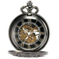L123 Roman Digital Mechanical Pocket Watch Mechanical Pocket Watch Antique Luxury Brand Necklace Exquisite Pocket Watches