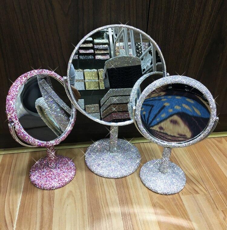 Espelho de mesa com cristais completos espelho