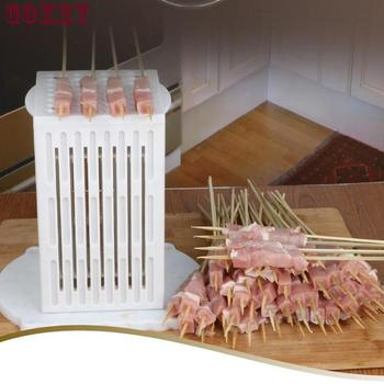 Meat Beef Mutton String Device Manual Stringing Machine Barbecue Skewer Artifact For BBQ Making Machine Kebab 416 manual satay skewer machine grilling bbq tools stainless steel mutton kebab lamb skewer doner kebab meat wear string machine