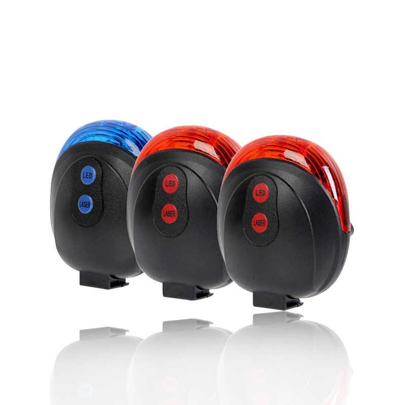 2 Laser 5 LED blinkt hinten Fahrrad Rücklicht Lampe Strahl Sicherheit Warnung
