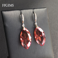 FFGems Big Stone MQ13*25mm Zultanite Earring 925 Silver Sterling Diaspore Stone Color Change Fine Jewelry For Women Party Gift