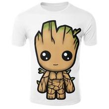 2021 3D printing T shirt funny animation T shirt seaside casual T shirt