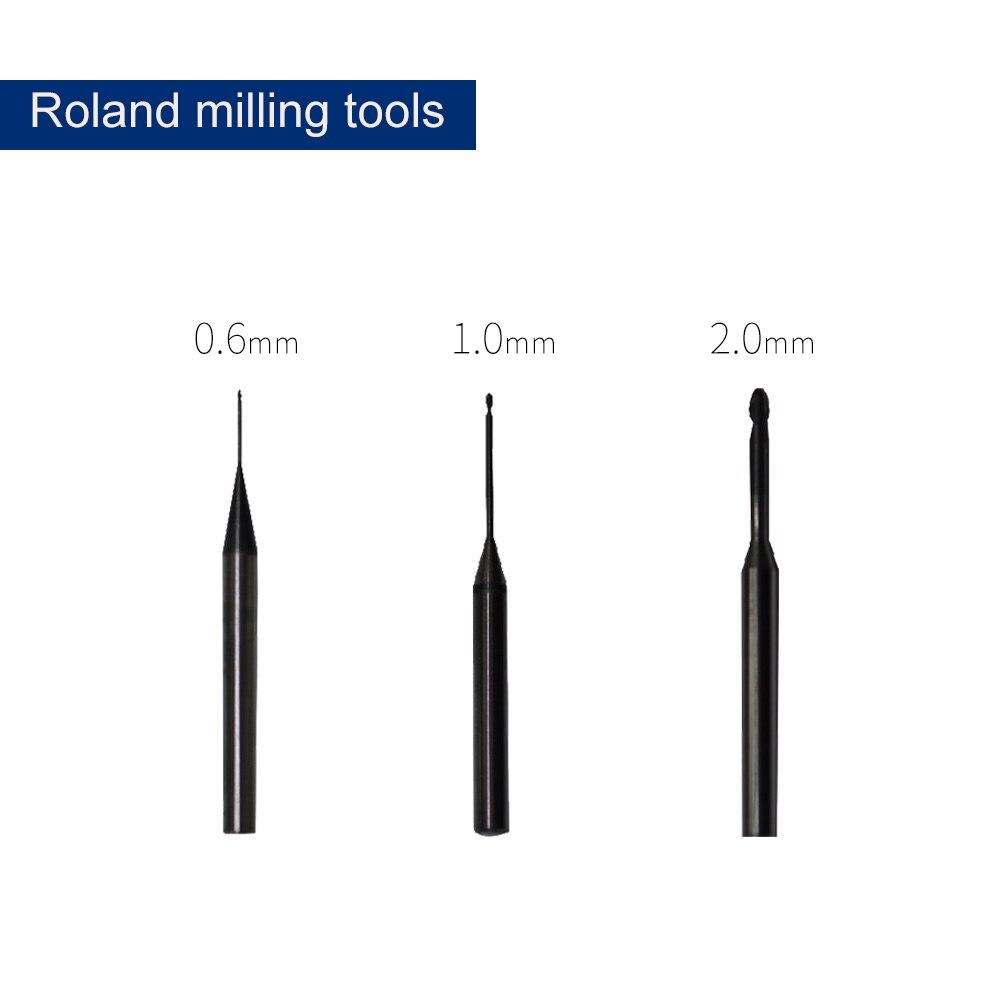 o servico dos muitos tempos roland burs 0 6mm 1 0mm 2 0mm roland cadcam que