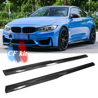 CF Kit PSM Style Car Styling F80 F82 F83 Carbon Fiber Extend Lip Side Skirts M3 M4 Bodykit For BMW Side Surrounded Accessories