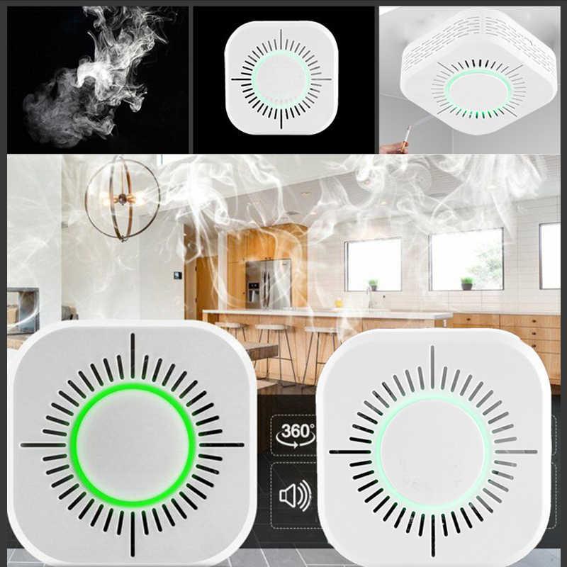 Smart Life 1Pcs 433 MHZ Smoke Detector Asap Nirkabel Fire Alarm Sensor Perlindungan Keamanan Alarm Smart Rumah Bekerja dengan sonoff RF