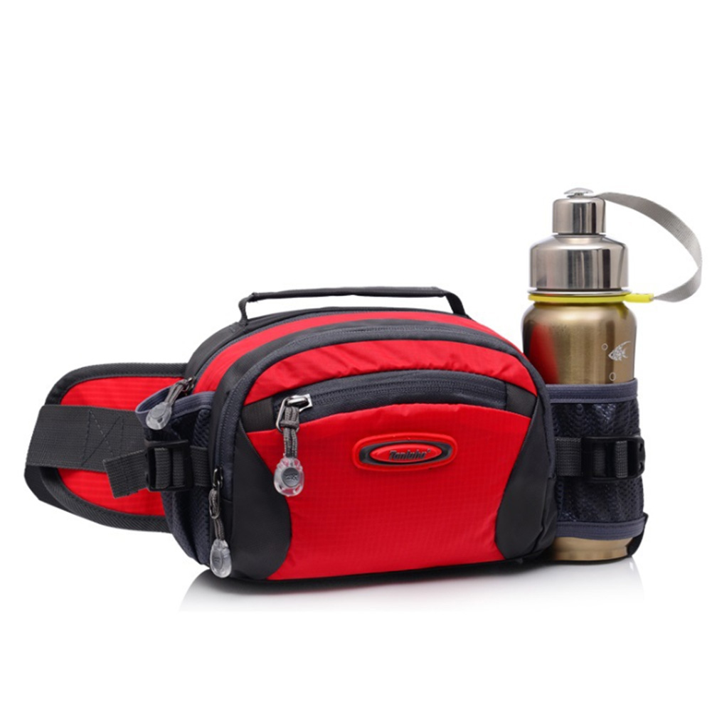 Fanny Pack Hiking Waist Bag Sports Outdoor Large Capacity Zipper Gym Running Pouch Fitness Water Bottle Holder Climbing