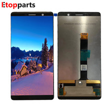 Black LCD Display For Nokia 7 PLUS LCD With Touch Digitizer Assembly Free Shipping lcd for asus padfone s pf500kl pf 500kl lcd display touch digitizer assembly by free shipping black