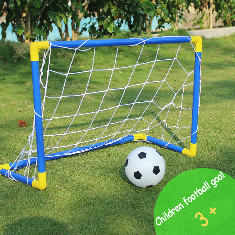 Mini Football Soccer Goal Kids Indoor Outdoor Games Training Accessories Gift Plastic Football Gate with Pump Soccer Ball image