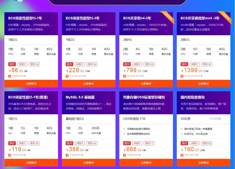 阿里云双11服务器低至89一年,超级划算~